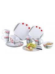Меламинови чинии червени 16 бр.