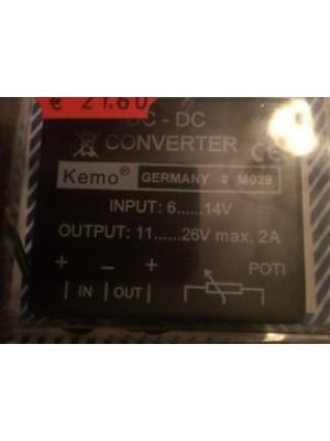 DC-DC конвертор входящо от 6v-14v изходящо 11v-26 v max/2A