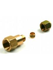 """DREHMEISTER адаптер за пълнене 1/2 """"SAE маркуч за пълнене на 8 мм медна линия - G1 / 4"""""""