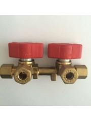 Двоен спирателен кран за газ