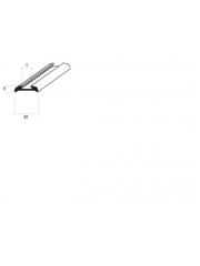 Сребърена анодирана лайсна