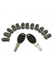 Комплект за HSC LOCK 12 цилиндъра / 1 двойка ключове