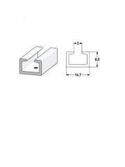Пистова релса от pvc.U и T форма