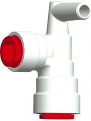 Ъглова връзка червена за JohnGuest 12mm / Uniquick 12mm