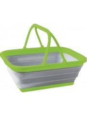 Сгъваема кошница с капак 16 л сиво / зелено