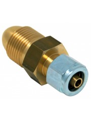 Калорен пропан бутилка (UK POL) адаптер към 8 мм термопластичен кабел